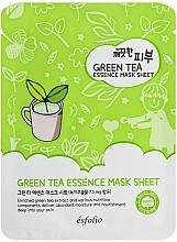 Parfüm, Parfüméria, kozmetikum Szövetmaszk zöld teával - Esfolio Pure Skin Green Tea Essence Mask Sheet