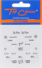 Parfüm, Parfüméria, kozmetikum Körömdíszítő matricák, 42317, 6db. - Top Choice Word Golds Silver