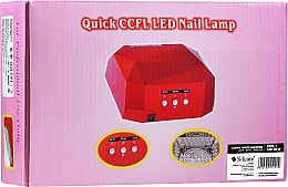 Parfüm, Parfüméria, kozmetikum Manikűr lámpa - Silcare Diamond LED CCFL UV 36W Lamp White