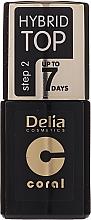 Parfüm, Parfüméria, kozmetikum Fedő gél lakk - Delia Coral Hybrid Top Coat Gel