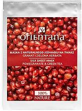 Parfüm, Parfüméria, kozmetikum Arcmaszk - Orientana Silk Cloth Face Mask Pomegranate & Green Tea