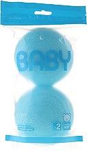 Parfüm, Parfüméria, kozmetikum Fürdőszivacs szett, 2 db, égszínkék - Suavipiel Baby Soft Sponge
