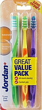 Parfüm, Parfüméria, kozmetikum Fogkefe közepes, zöld + sárga + lila - Jordan Advanced Medium Toothbrush