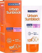Parfüm, Parfüméria, kozmetikum Napvédő krém érzékeny bőrre - Novaclear Urban Sunblock Protective Cream Sensitive Skin SPF50