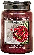 Parfüm, Parfüméria, kozmetikum Illatgyertya - Village Candle Holiday Chutney Glass Jar