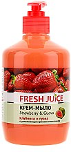 """Parfüm, Parfüméria, kozmetikum Hidratáló krémszappan """"Eper és guava"""" pumpás adagolóval - Fresh Juice Strawberry&Guava"""