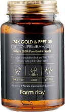 Parfüm, Parfüméria, kozmetikum Öregedésgátló ampulla-szérum 24K arannyal és peptidekkel - FarmStay 24K Gold & Peptide Solution Prime Ampoule