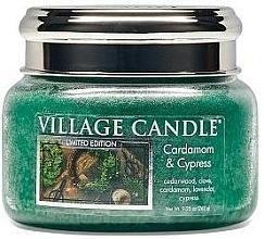 Parfüm, Parfüméria, kozmetikum Illatgyertya pohárban - Village Candle Cardamom & Cypress