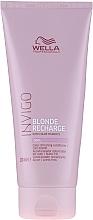Parfüm, Parfüméria, kozmetikum Tónusos balzsam-ápolás hideg tónusú világos hajra - Wella Professionals Invigo Blonde Recharge Conditioner For Cool Blonde