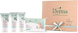Parfüm, Parfüméria, kozmetikum Szett - Derma Eco Baby (cr/100ml+cr/100ml+shm/150ml+wipe/64)