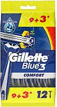 Parfüm, Parfüméria, kozmetikum Eldobható borotva készlet, 12 db. - Gillette Blue 3 Comfort