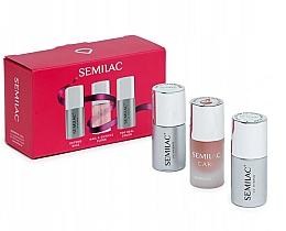 Parfüm, Parfüméria, kozmetikum Készlet - Semilac Must Haves (n/base/7ml + n/top/7ml + n/oil/7ml)