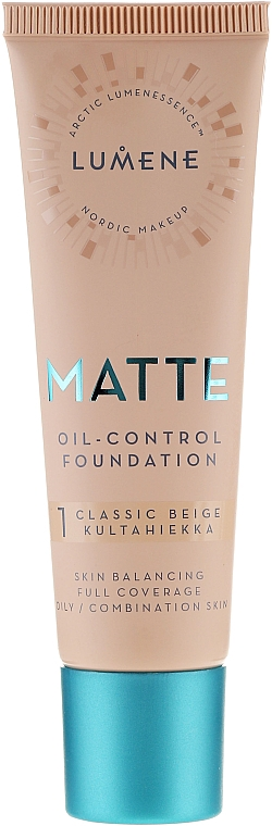 Matt alapozó - Lumene Matte Oil-control Foundation