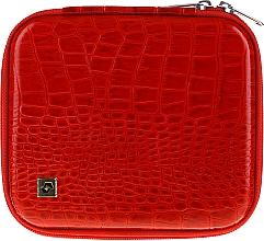 Parfüm, Parfüméria, kozmetikum Manikűr szerszám tok, CS-08, piros - Staleks Case For Manicure Tools