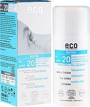 Parfüm, Parfüméria, kozmetikum Napvédő testápoló, illatmentes - Eco Cosmetics Sun Lotion SPF 20
