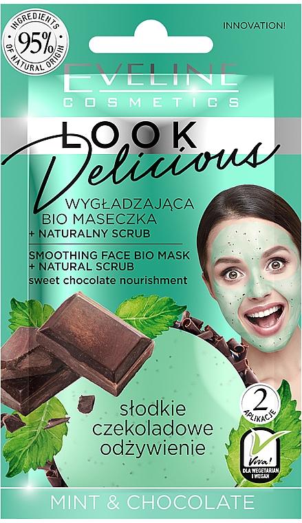 """Simító maszk """"Menta és csokoládé"""" - Eveline Cosmetics Look Delicious Face Bio Mask"""