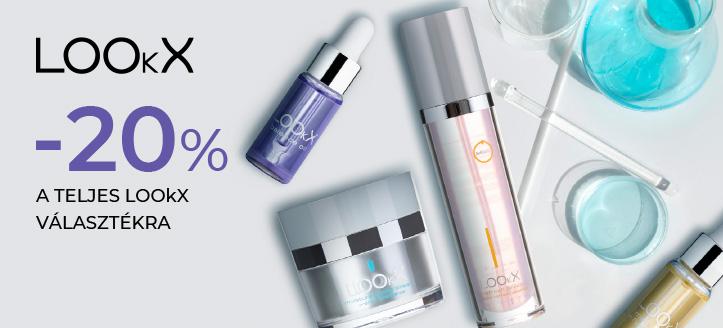 -20% kedvezmény az összes LOOkX termékre. A feltüntetett ár a kedvezményt is tartalmazza
