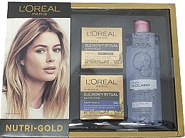 Parfüm, Parfüméria, kozmetikum Szett - L'Oreal Paris Nutri Gold (f/cr/50 ml + f/cr/50 ml + micellar/400 ml)