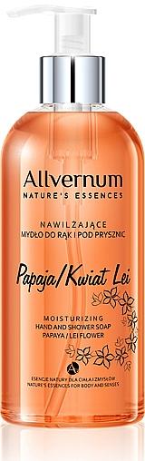 """Kéz- és zuhanyszappan """"Papaya és Leu virág"""" - Allverne Nature's Essences Hand And Shower Soap"""