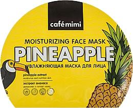 Parfüm, Parfüméria, kozmetikum Hidratáló anyagmaszk - Cafe Mimi Moisturizing Face Mask Pineapple