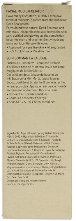 Arctisztító maszk - Ahava Time To Clear Facial Mud Exfoliator — fotó N3