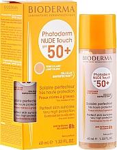 Parfüm, Parfüméria, kozmetikum Napvédő krém - Bioderma Photoderm Nude Touch Golden Color Spf 50+