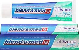 "Parfüm, Parfüméria, kozmetikum Fogkrém ""Mint Kiss"" - Blend-a-med 3D White Fresh Extreme Mint Kiss Toothpaste"