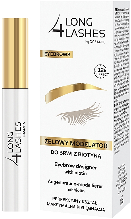 Szemöldök gél - Long4Lashes Eyebrow Designer With Biotin 12h Effect