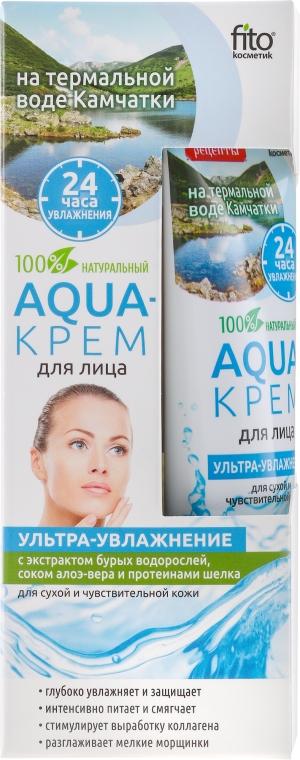 """Aqua-arckrém Kamcsatka termálvízén """"Ultra-hidratáló"""" barna alga, aloe vera és selyemfehérje kivonattal - Fito Kozmetikum"""