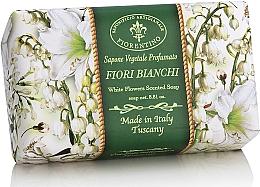 "Parfüm, Parfüméria, kozmetikum Natúr szappan ""Fehér virágok"" - Saponificio Artigianale Fiorentino White Flowers Scented Soap"