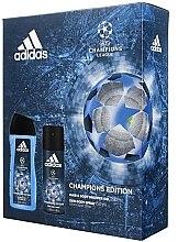 Parfüm, Parfüméria, kozmetikum Készlet - Adidas UEFA Champions League (sh/gel/250ml + deo/spray/150ml)