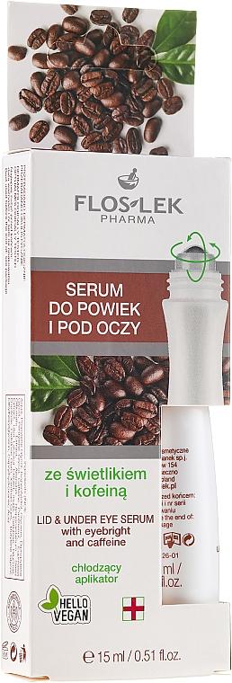 Szemkörnyék és szem szérum koffeinnal és szemfűvel - Floslek Eye Care Serum