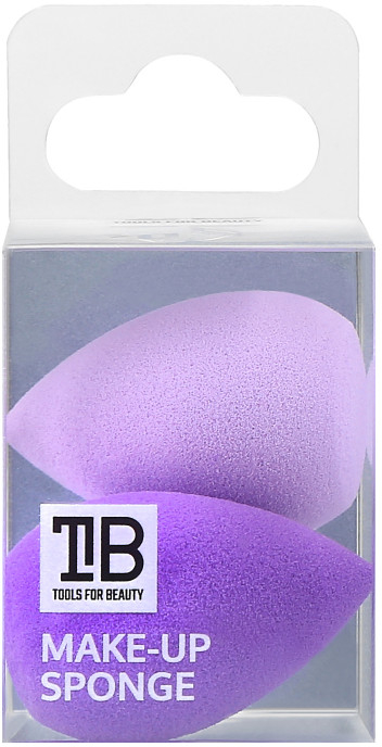 Mini sminkszivacs, 2 db - Tools For Beauty Mini Concealer Makeup Sponge Purple