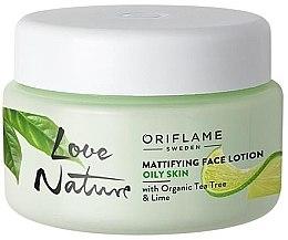 Parfüm, Parfüméria, kozmetikum Mattitó lotion arcra organikus teafa és lime kivonattal - Oriflame Love Nature Mattifyng Face Lotion