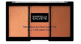 Parfüm, Parfüméria, kozmetikum Highlighter paletta - Gabriella Salvete Trio Highlighting Palette