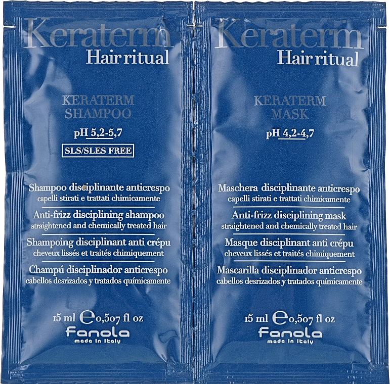 Regeneráló készlet sérült hajra(minta) - Fanola Keraterm (shmp/15ml + mask/15ml)