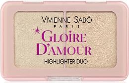 Parfüm, Parfüméria, kozmetikum Highlighter paletta - Vivienne Sabo Vs Gloire D'Amour (01 -Világos rózsaszín)