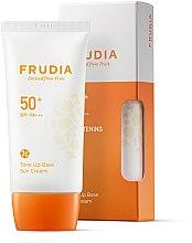 Parfüm, Parfüméria, kozmetikum Napvédő alapozó krém - Frudia Tone Up Base Sun Cream SPF50