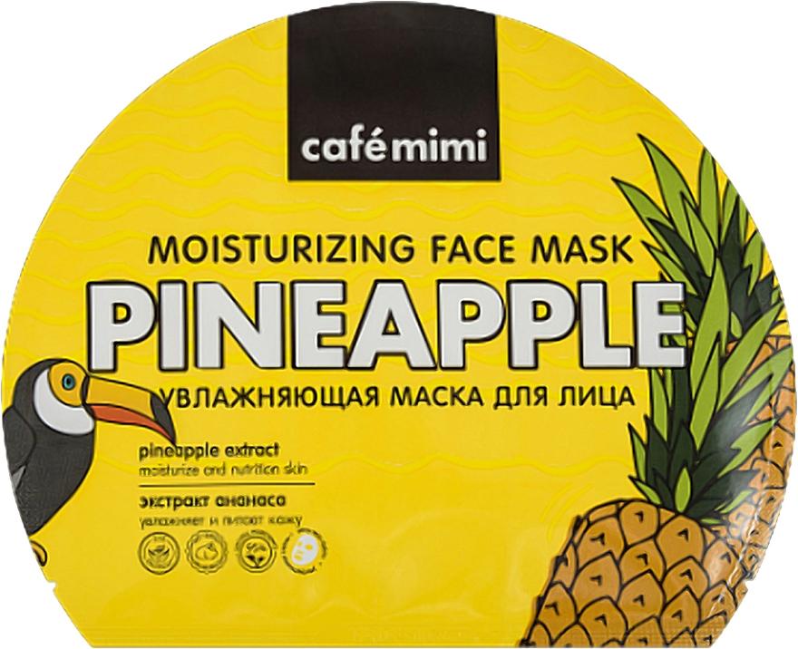 Hidratáló anyagmaszk - Cafe Mimi Moisturizing Face Mask Pineapple
