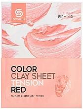 Parfüm, Parfüméria, kozmetikum Agyag arcmaszk-szelet - G9Skin Color Clay Sheet Tension Red