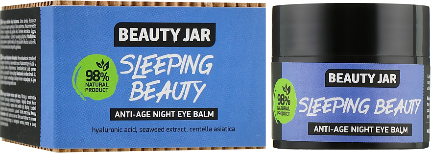 "Éjszakai anti age szemkörnyék balzsam ""Sleeping Beauty"" - Beauty Jar Anti-Age Night Eye Balm"