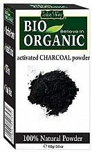 """Parfüm, Parfüméria, kozmetikum """"Aktív szén"""" púder arc- és hajápoláshoz - Indus Valley Bio Organic Activated Charcoal Powder"""