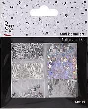 Parfüm, Parfüméria, kozmetikum Körömdíszítő szett, 149313 - Peggy Sage Mini Kit Nail Art Argent (6 db)