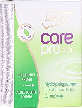 """Parfüm, Parfüméria, kozmetikum Szappan """"Aloe vera és jojoba"""" - Luksja Care Pro Aloe & Jojoba Cream Soap"""