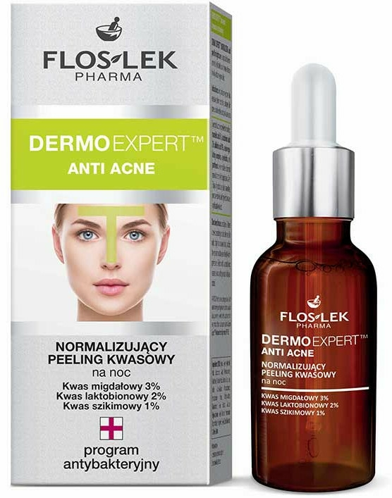 Éjszakai peeling - Floslek Dermo Expert Anti Acne Peeling