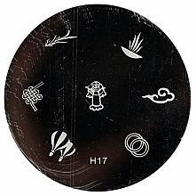 Parfüm, Parfüméria, kozmetikum Körömmintázó lemez, H17 - Ronney Professional