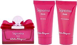 Parfüm, Parfüméria, kozmetikum Salvatore Ferragamo Signorina Ribelle - Szett (edp/50ml +sh/gel/50ml+ b/lot/50ml)