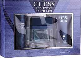 Parfüm, Parfüméria, kozmetikum Guess Seductive Homme Blue - Szett (edt/100ml + deo/226ml + sh/gel/200ml)