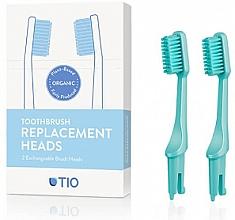 Parfüm, Parfüméria, kozmetikum Cserélhető fogkefefej, közepesen lágy, türkíz - TIO Toothbrush Medium