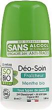 "Parfüm, Parfüméria, kozmetikum Golyós dezodor ""Bambusz púder"" - So'Bio Etic Deo Fresh Deodorant Mint All Skin Types"